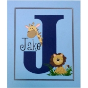 Canvas Name Plaque HandpaintedJungle