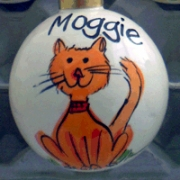Bauble Christmas Handpainted Ceramic & PersonalisedKitty