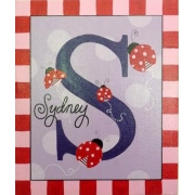 Canvas Name Plaque HandpaintedLadybird