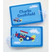 Blue Plane - Luggage Tag