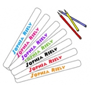 .School Labels for Pencilswith free packet of pencils48 labelsfree shipping