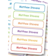Personalised School LabelsMulti Colours - Labels Vinyl108 labelsfree shipping