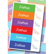 Personalised School LabelsColours Dinosaur - Labels Vinylmixed colour pack108 labelsfree shipping