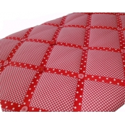 Memo Board / Noticeboard / Memory Board Red Gingham/Red Spot Ribbon/Pink and Flower Buttons (Rectangular)