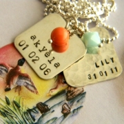Memory Box (Large) Stamped Necklace