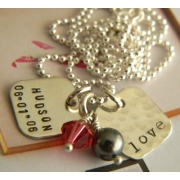 Memory Box (Small) Stamped Necklace