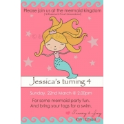Mermaid Birthday Invitation Personalised