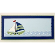 Name Plaque'Sailboat - navy/green'