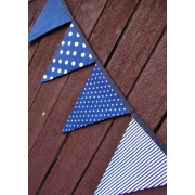 Bunting - Navy Spot Stripe and Stars