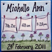 Name Tile Personalised - Girl