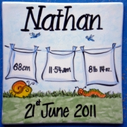 .Name Tile Personalised - Boy