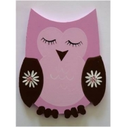 Artwork Hanger Set - Owl - Pink & ChocolateDisplay your child's pictures