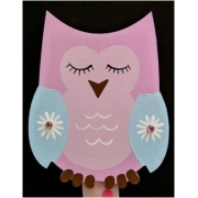 Artwork Hanger Set - Owl - Pink & Pale BlueDisplay your child's pictures