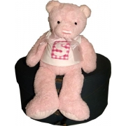Personalised Teddy Bear - PINKChoose your letter, bear colour and fabric patch colour