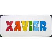 Personalised Kids Wooden Jigsaw Name Puzzle (Rainbow for Boys)