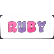 .Personalised Wooden Jigsaw Name PuzzleCHOOSE YOUR OWN COLOURS