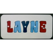 Personalised Wooden Jigsaw Name Puzzle(Red/Sky Blue/Royal Blue)