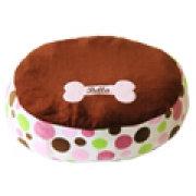 Pet Bean Bag Bed - Pink Polka (Personalised)