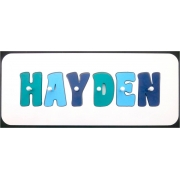 Personalised Kids Wooden Jigsaw Name Puzzle (Sea Green/Sky Blue/Royal Blue)