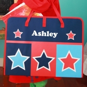 Art Folder - Star Check Childrens Personalised