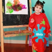 Art Paint Smock Splat Childrens Personalised