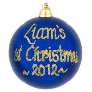 .Bauble Christmas Personalised in Gift Tin1ST CHRISTMASAvailable in 10 colours