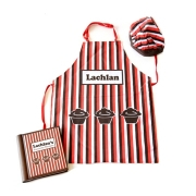 Apron / Recipe Book / Chefs Hat Set(Personalised Muffins)