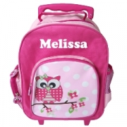 Trolley Bag Personalised Preschool - Owl