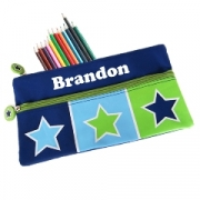 Pencil Case - Large Bright Starfree pencils