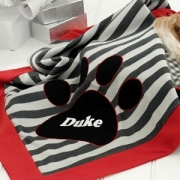 Personalised Pet Blanket - gGey Stripes