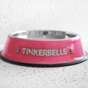 Pet Bowl - Pink Bling (Personalised)