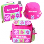 .Personalised School Pack - Pink Flowers