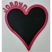Chalkboard - PersonalisedLOVEHEART DESIGNchoose from over 20 coloursAvailable in 2 sizes