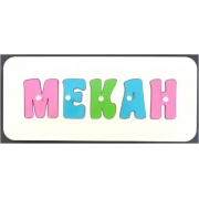 Personalised Kids Wooden Jigsaw Name Puzzle (Lolly Pink/Aqua/Mint)