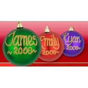 .Bauble Christmas Personalised in Gift TinAvailable in 10 colours