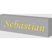 Night Light /Light Box PersonalisedMetallic Silver Box