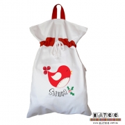 Personalised ClothingA Birdy Christmas DesignAvailable in a t-shirt, bib, bodysuit, singlet, apron, santa sack, library bag & shoulder bag