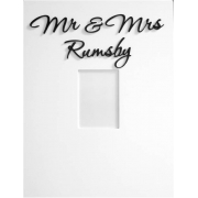 Personalised Picture / Photo FramesMr & Mrs Frame(shown here with bermuda black lettering)