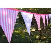 Bunting - Cotton Candy9 flags