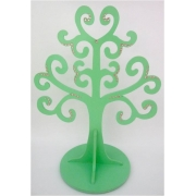 Jewellery Tree - LARGE Choose from over 20 colours shown here in mint gloss with light pink gems