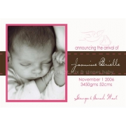Christening Invitation 'Pink Stitches'