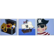 Artwork Childrens Room Decor - Captain Dribblepot Set Kids Wall Art Canvas (Set of 3)