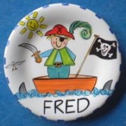 Handpainted Plate - Pirates