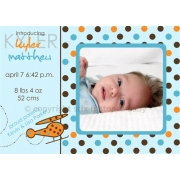 Christening Invitation 'Polka Dot Flight'