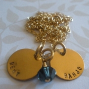 Precious GOLD Stamped Necklace