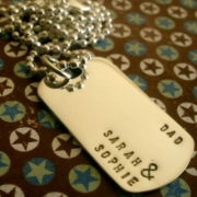 Hubble Stamped Tag Necklace