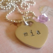 Little Love Stamped Necklace