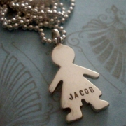 Paper Doll - Boy Stamped Necklace