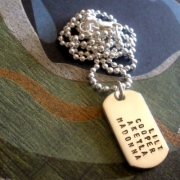 Handsome Stamped Tag Necklace