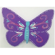 Clip-a-licious Hair Clip HolderButterfly Swirly Dark Purple